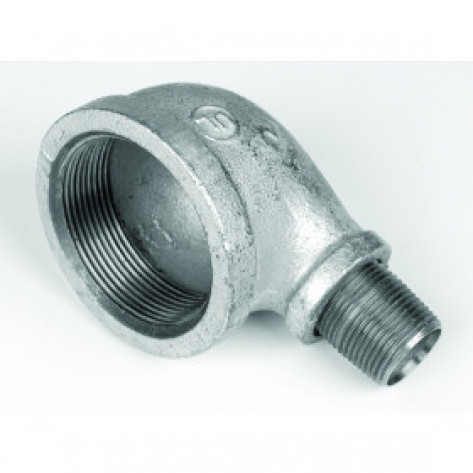 """Cast-Iron EL Fitting For Mounting Drum Vent In 3/4"""" Bung Opening"""