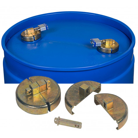 Drum Lock Set For Plastic Drums, 2 Units Fit 2-In Bung, 2 Lock Bars. No Padlocks.