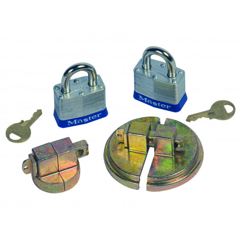 Drum Lock Set For Steel Drums, 1 Set Fits 2-In Bung, 1 Set Fits 3/4-In Bung, 2 Lock Bars, 2 Padlocks