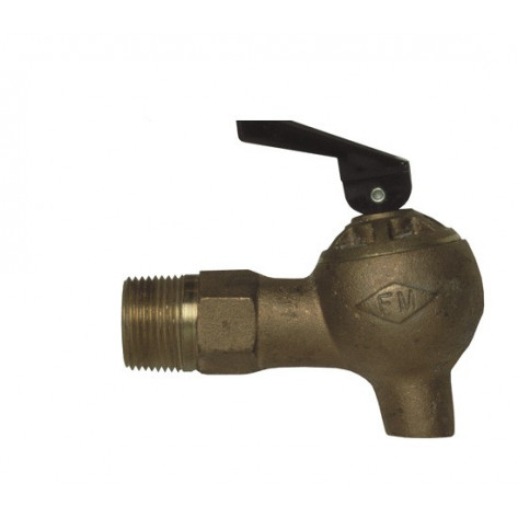 Brass Control Flow Lab Safety Faucet, 3/4-In NPT Bung