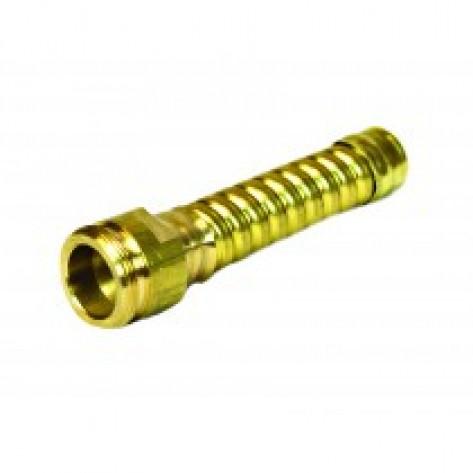 """Flexible Hose Extension For Drum Faucet , 3-1/4"""" Long, Brass"""