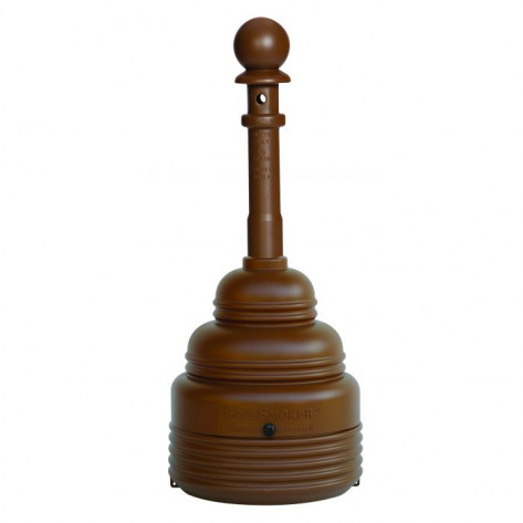 4 Gal SafeSmoker Receptacle - Poly w/Metal Bucket-Brown