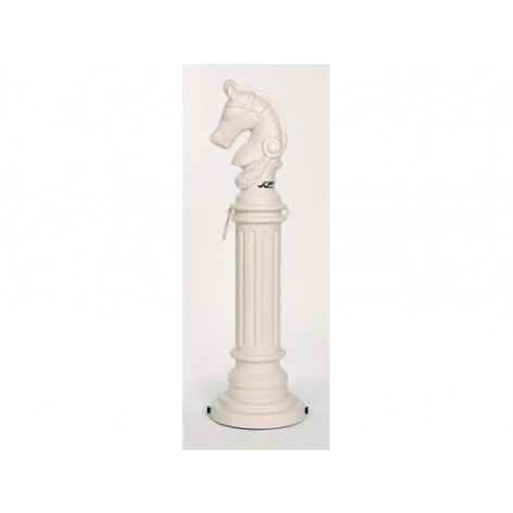 SafeSmoker Hitching Post  - Poly w/Rubber Bottom-Beige