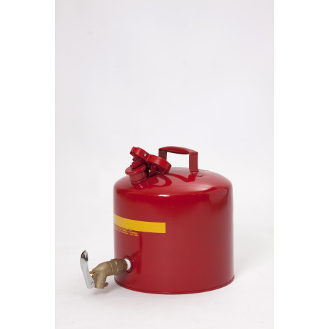 Metal - Red w/Brass Faucet