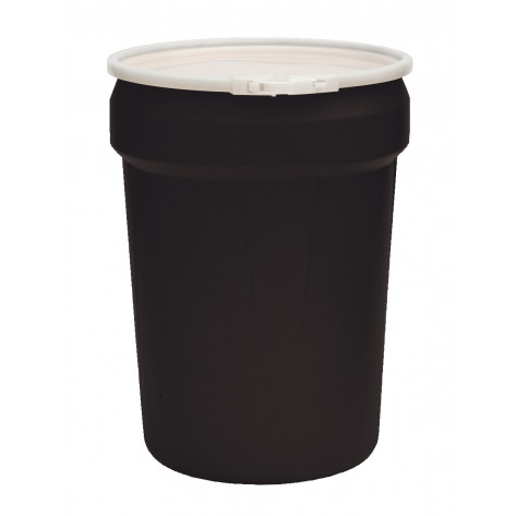 30 Gal Drum  Black Open-Head Tapered w/Plastic Ring