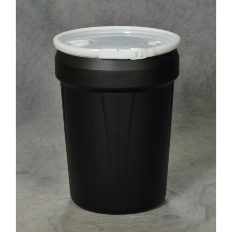 30 Gal Drum  Black Open-Head Tapered w/Poly Ring & Bung Lid
