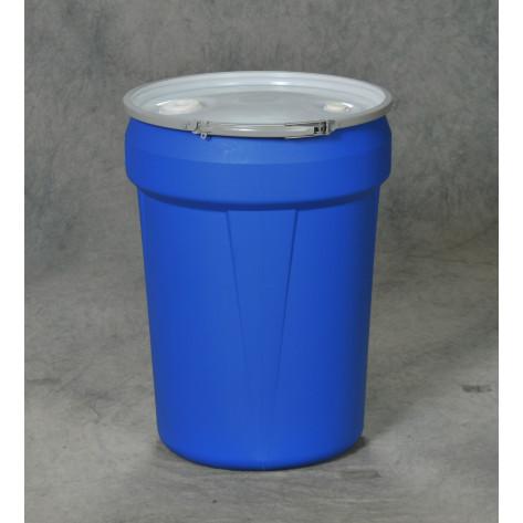 30 Gal Drum  Blue Open-Head Tapered w/Metal Ring & Bung Lid