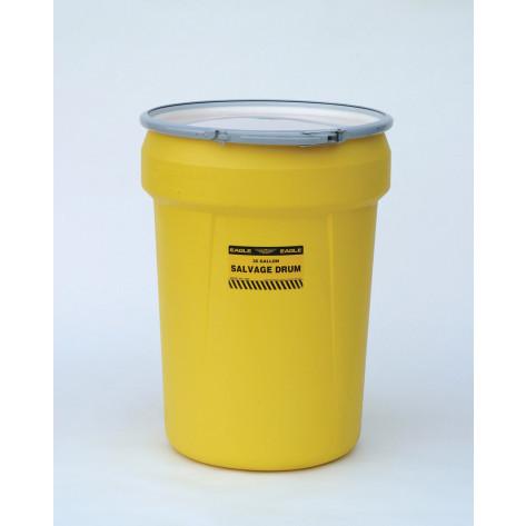30 GAL Salvage Drum (Yellow) w/Metal Lever-Lock Ring