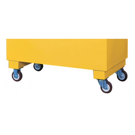 Casters for Safesite  safety/storage chest, heavy-duty set of 4,  2000-lb. load capacity, 2 locking.