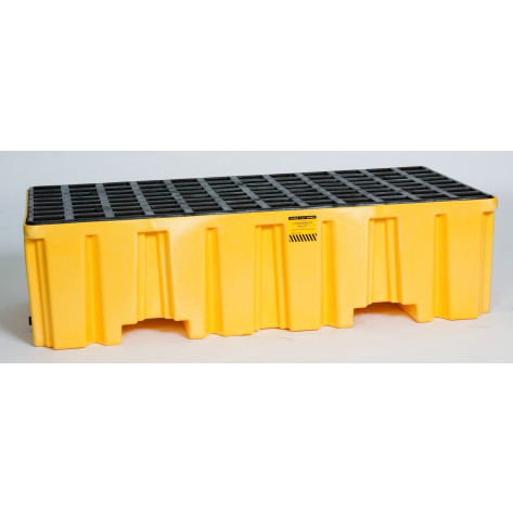2 Drum Yellow Containment Pallet-No Drain