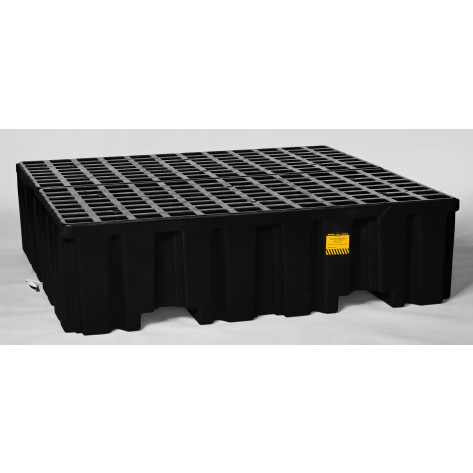 4 Drum Black Containment Pallet-No Drain