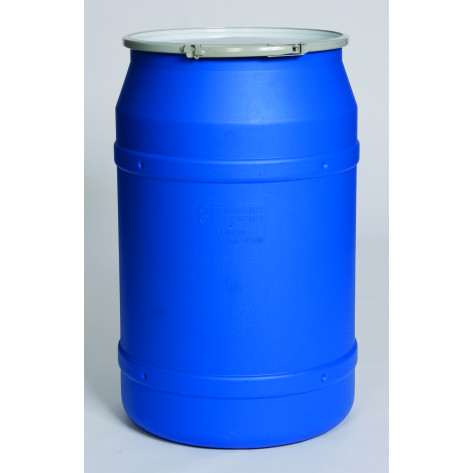 55 GAL Straight Sided Drum (Blue) w/Metal Lever Lock