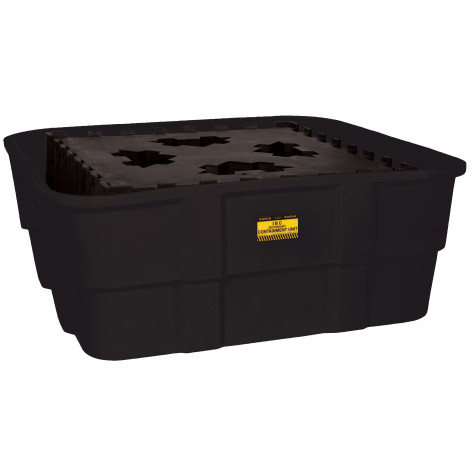 IBC Containment Unit-All Poly Tub and Platform - Black no Drain