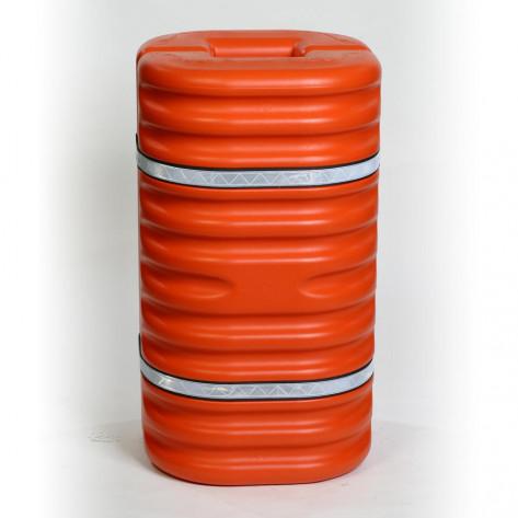 "8"" Column Protector, Orange w/Reflective Bands"