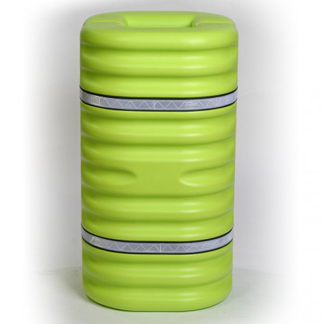 "12"" Column Protector, Lime w/Reflective Bands"