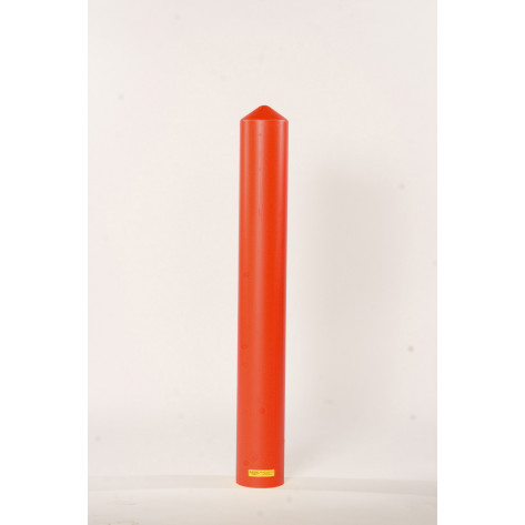 "6"" Bumper Post Sleeve-Smooth Sided-Red"