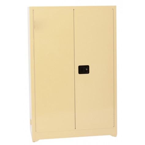 Beige Office Supply-2-Doors Manual, 4 Painted Shelves