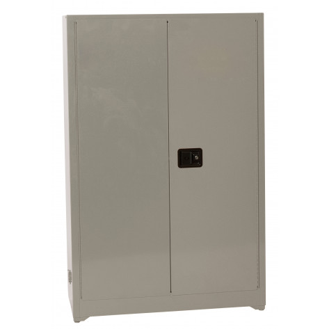 Gray Office Supply-2-Doors Manual, 4 Painted Shelves