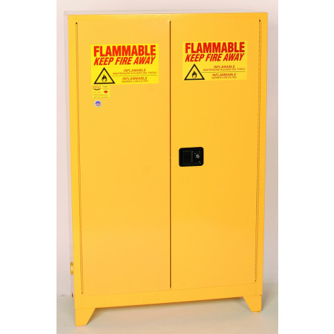 "45 Gal Two Door Manual Close w/4"" Legs Two Shelves"
