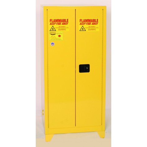 "90 Gal Two Door Manual Close w/4"" Legs Two Shelves"