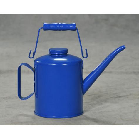 4 Pint Blue Steel w/Top Bail Handle Added