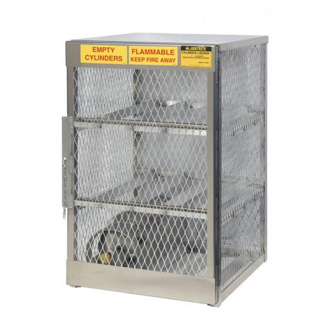 Cylinder Locker For Safe Storage Of 6 Horizontal 20 Or 33-Lb. LPG Cylinders
