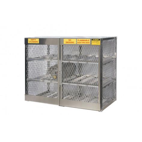 Cylinder Locker For Safe Storage Of 12 Horizontal LPG Cylinders