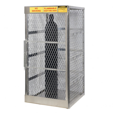 Cylinder Locker For Safe Storage Of Up To 10 Vertical Compressed Gas Cylinders