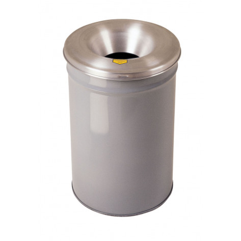 Cease-Fire  Waste Receptacle, Safety Drum Can with Aluminum Head, 15 gallon, Gray.