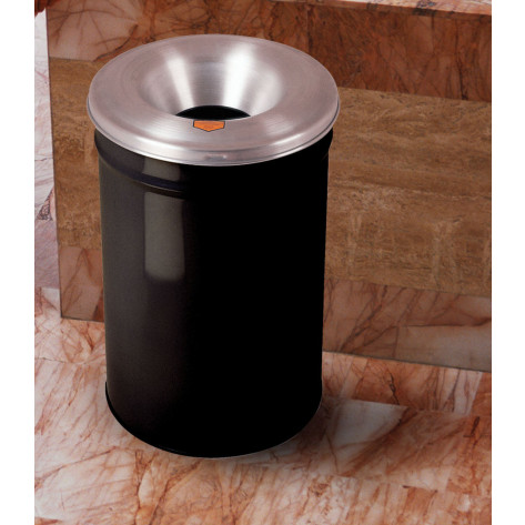 Cease-Fire  Waste Receptacle, Safety Drum Can with Aluminum Head, 15 gallon, Black.