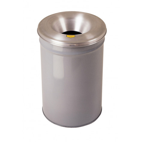 Cease-Fire  Waste Receptacle, Safety Drum Can with Aluminum Head, 30 gallon, Gray.