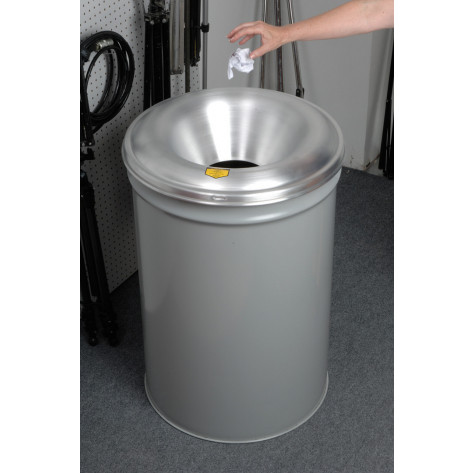 Cease-Fire  Waste Receptacle, Safety Drum Can with Aluminum Head, 55 gallon, Gray.