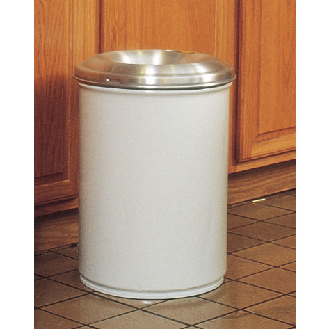 Cease-Fire  Waste Receptacle, Safety Drum Can with Aluminum Head, 55 gallon, White.