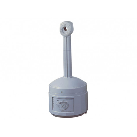 Original Smoker s Cease-Fire  Cigarette Butt Receptacle, Cap. 4 gal, bucket included, poly, Pewter Gray.