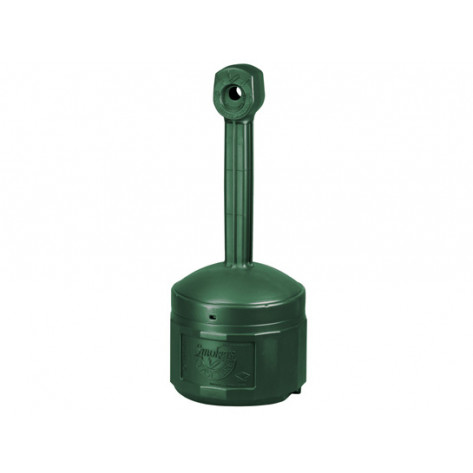 Original Smoker s Cease-Fire  Cigarette Butt Receptacle, Cap. 4 gal, bucket included, poly, Forest Green.