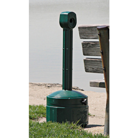 Personal Smoker's Cease-Fire  Cigarette Butt Receptacle, Cap. 1 gal, bucket included, poly, Forest Green.
