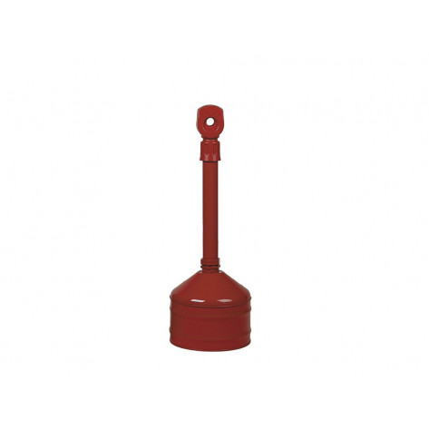 Heavy Duty Cigarette Butt Can, capacity 2.5 gallons, base and neck steel, polyethylene topper, Red.