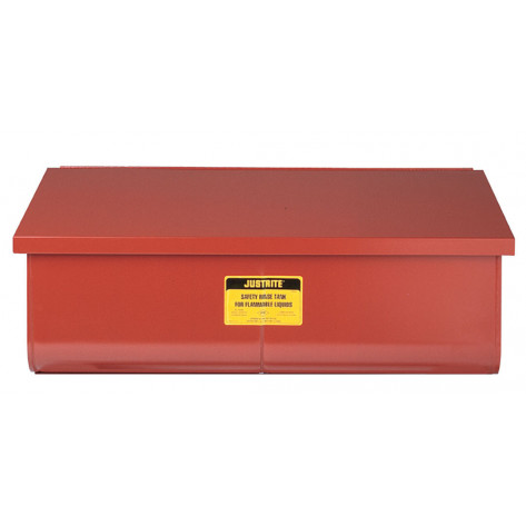 Rinse Tank, Benchtop, 22 gallon, lift-and-latch cover with fusible link, drain plug, Steel, Red.