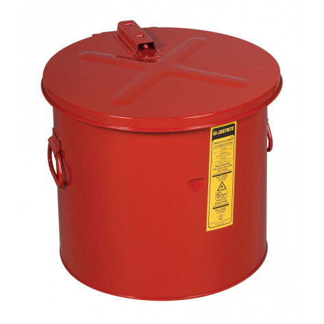 Dip Tank for cleaning parts, 8 gal, manual cover with fusible link, optional parts basket, Steel, Red.