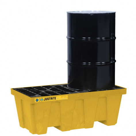 PALLET, 2 DRUM WITH DRAIN, ECOPOLYBLEND