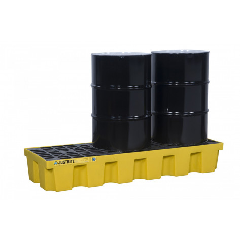 PALLET, 3 DRUM WITH DRAIN, ECOPOLYBLEND