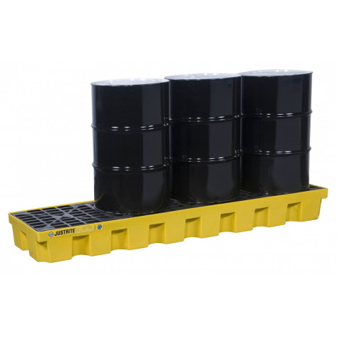 PALLET 4 DRUM INLINE WITH DRAIN ECOPOLYBLEND 75 Gal Sump