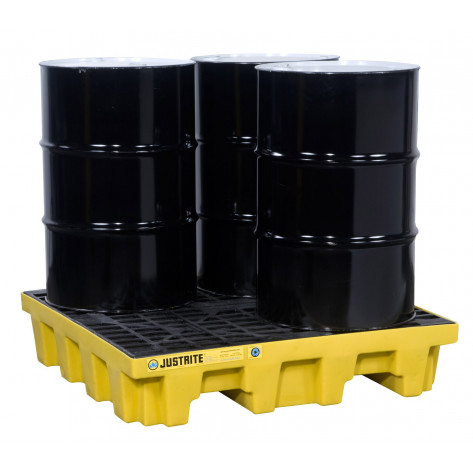 PALLET, 4 DRUM SQUARE WITH DRAIN, ECOPOLYBLEND 73 Gal Sump