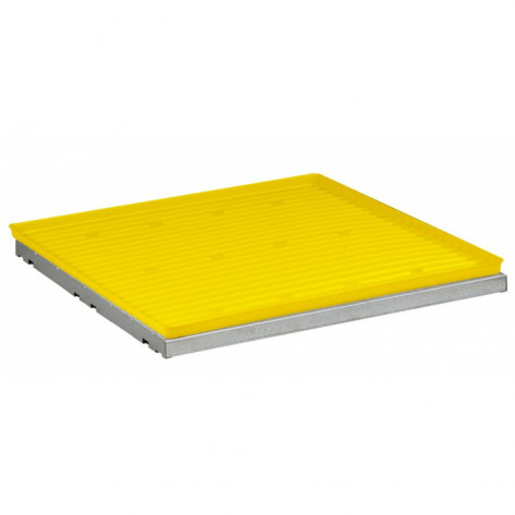 SpillSlope Steel Shelf with Yellow Polyethylene Tray for 4-gallon Countertop safety cabinet
