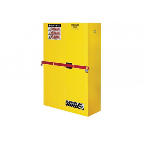 High Security Flammables Safety Cabinet With Steel Bar,45 Gallon,2 Manual Close Doors. 65 x 43 x 18