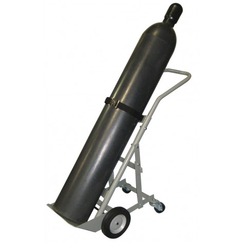 Single Cylinder Hand Truck, 8 Inch Semi-Pneumatic Wheels, Rear Casters