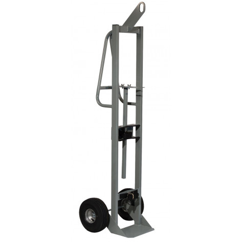 Single Cylinder Hand Truck with Hoist Ring, 10.5 Inch Pneumatic Wheels