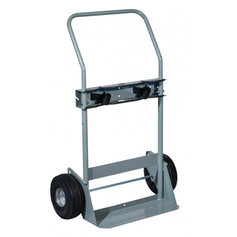 Double Cylinder Hand Truck, Flat-Free Wheels
