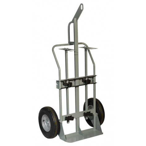 Double Cylinder Hand Truck with Hoist Ring, 16 Inch Pneumatic Wheels
