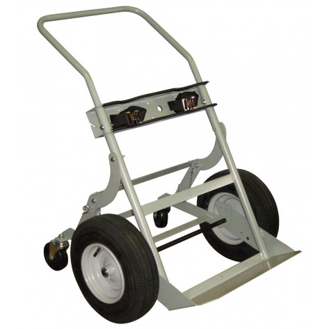 Double Cylinder Hand Truck, 16 Inch Pneumatic Wheels, Rear Casters